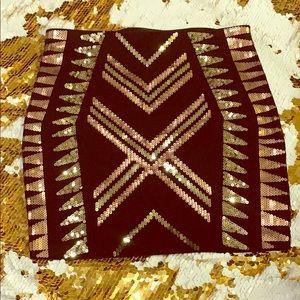 Express sequined miniskirt